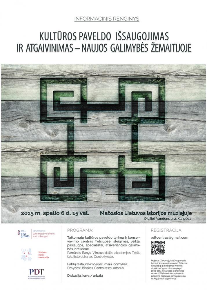 Informacinis renginys Mažosios Lietuvos istorijos muziejuje Klaipėdoje